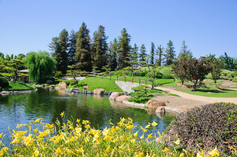 Beautiful view of Japanese Garden royalty free stock images