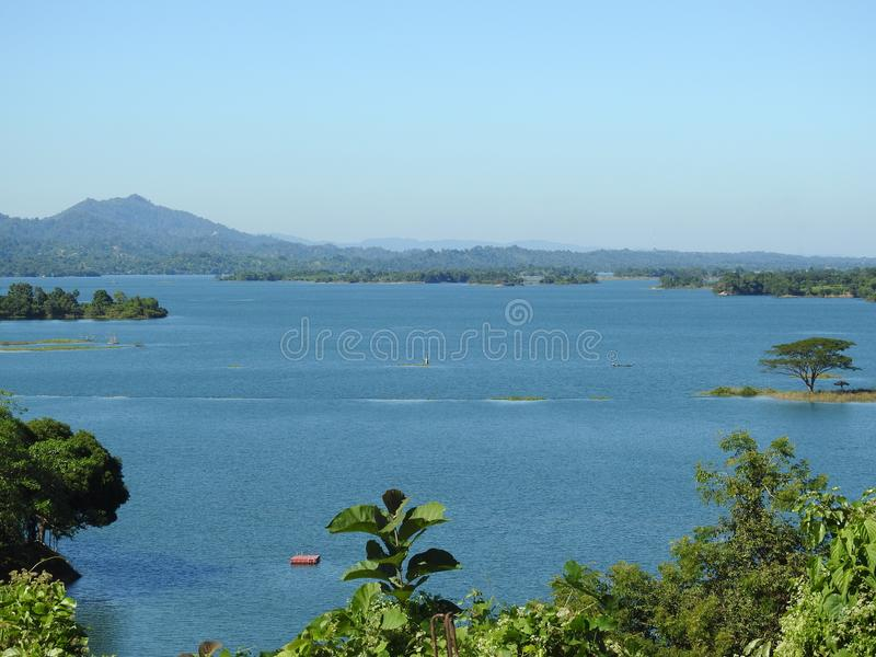 Beautiful View of Kaptai Lake, Chittagong stock image