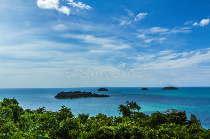 Beautiful view on Koh Chang, Thailand stock images