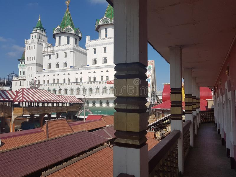 Beautiful view of kremlin in Izmailovo, Moscow, Russia royalty free stock image