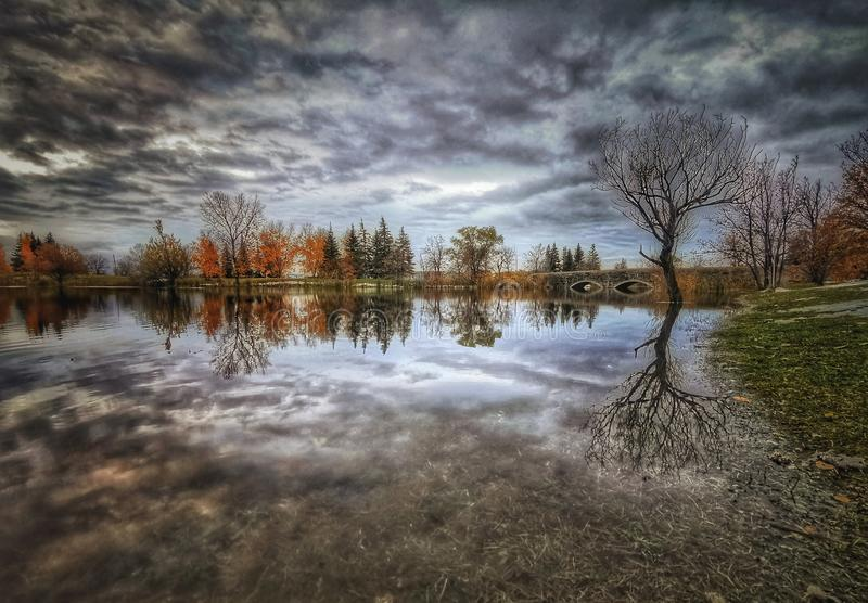 Beautiful view on the lake Autumn session stock images