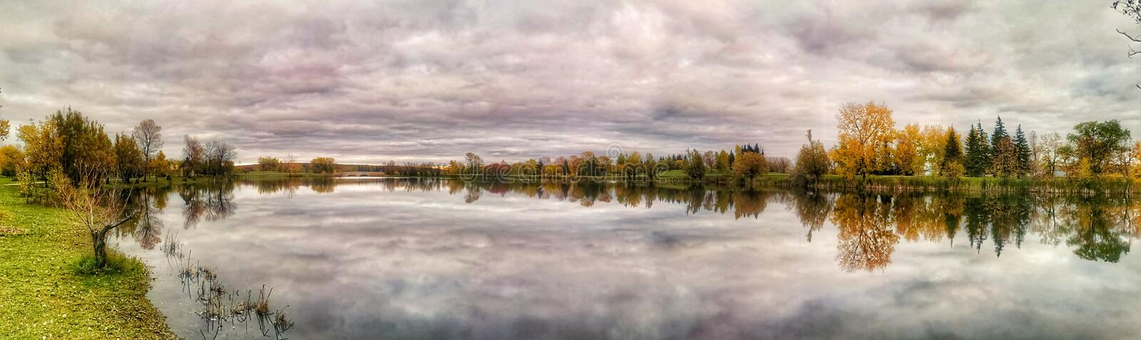 Beautiful view on the lake Autumn session stock image