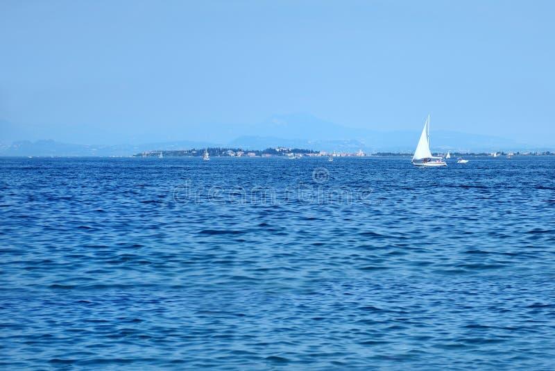 Beautiful view of Lake Garda near Sirmione. Italy royalty free stock photography