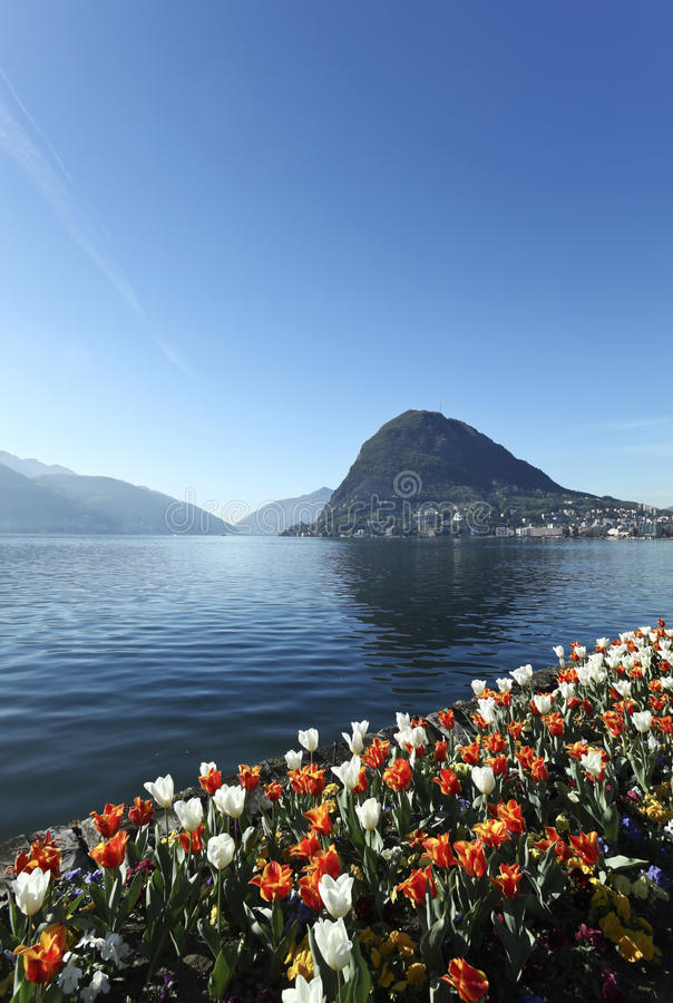 Beautiful view of lake Lugano