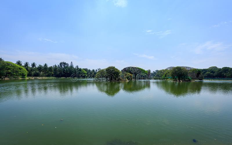Lal Bagh Botanical Garden - Bangalore/Bengaluru. Beautiful view of Lal Bagh Botanical Garden, one of the tourist attractions in Bangalore, with plenty variety of royalty free stock image