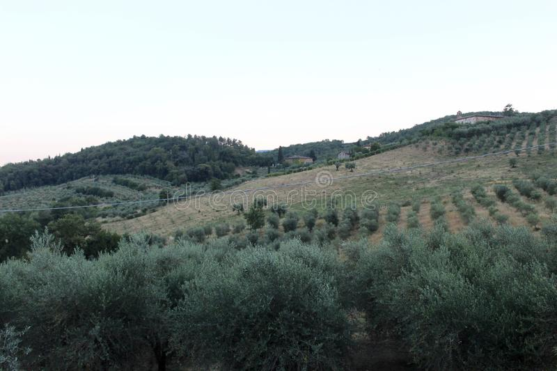 The beautiful view of the landscape. This photo is made in a field near Greve in Chianti, Tuscany, Italy royalty free stock images