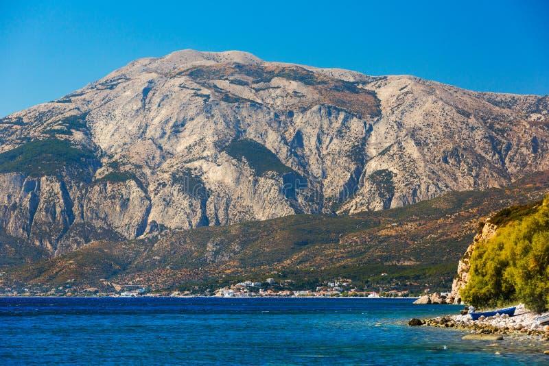 Samos island stock image