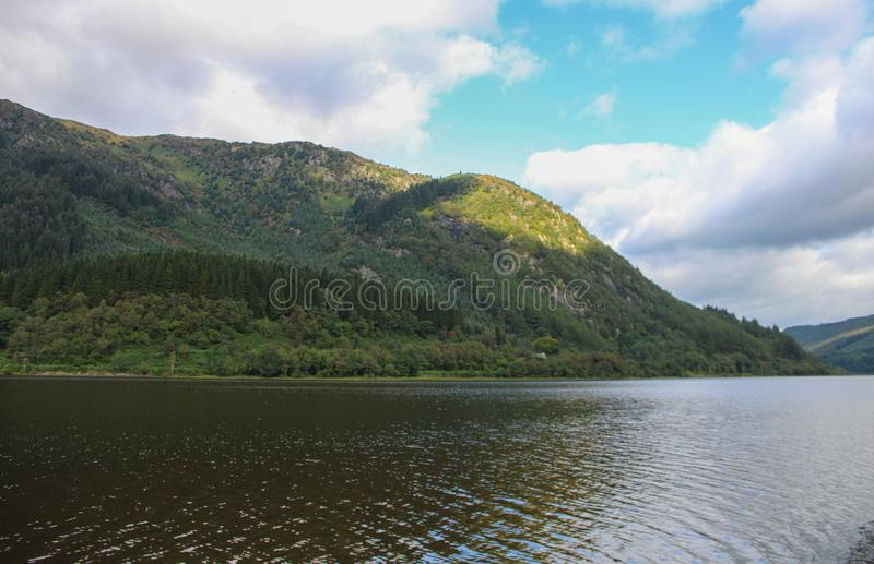 Beautiful view of Loch Lubnaig. In Scottland stock images