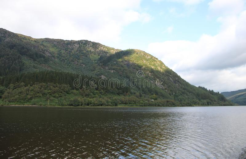 Beautiful view of Loch Lubnaig. In Scottland stock photos