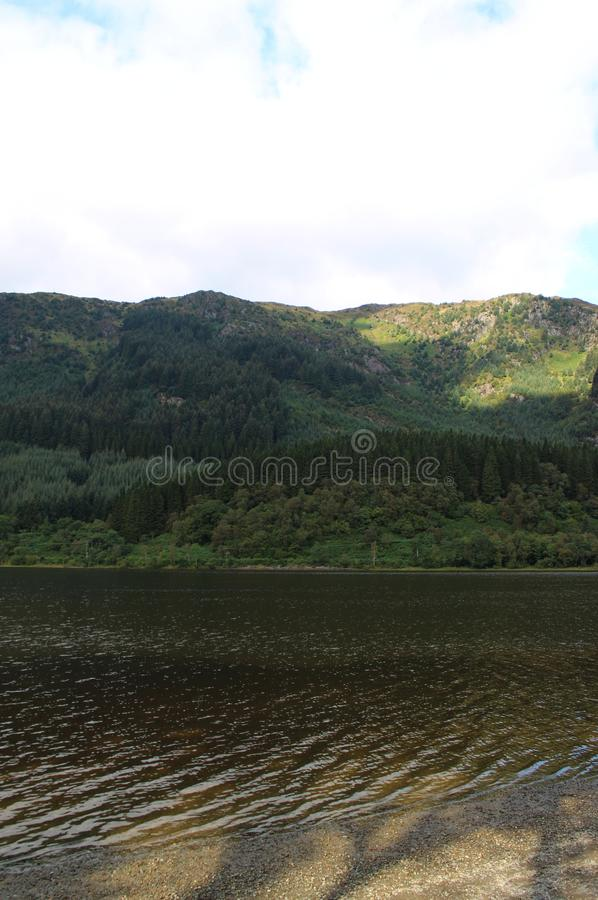Beautiful view of Loch Lubnaig. In Scottland royalty free stock photos