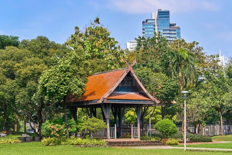 Beautiful view from Lumpini park, Bangkok stock photos