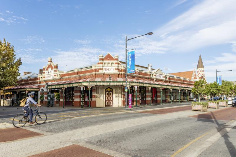 Beautiful view of the Markets and downtown Fremantle, Western Australia royalty free stock images