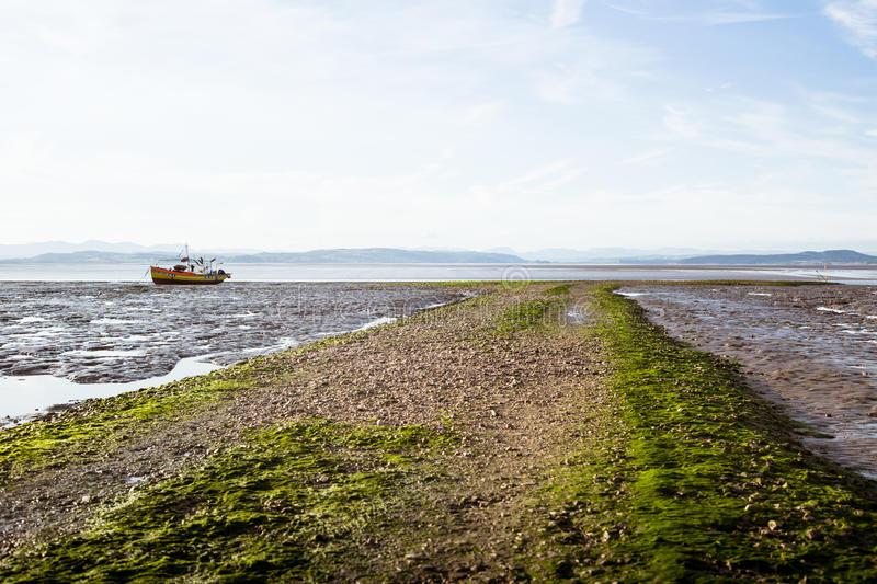 A beautiful view of Morecambe coast stock image