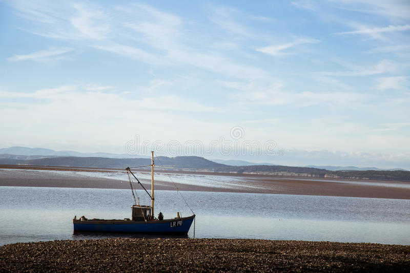A beautiful view of Morecambe coast royalty free stock images