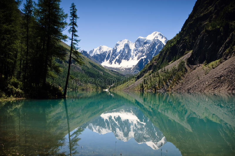 Beautiful view at the mountain lake stock images