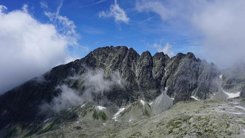 The best of the high Tatras mountains royalty free stock photo
