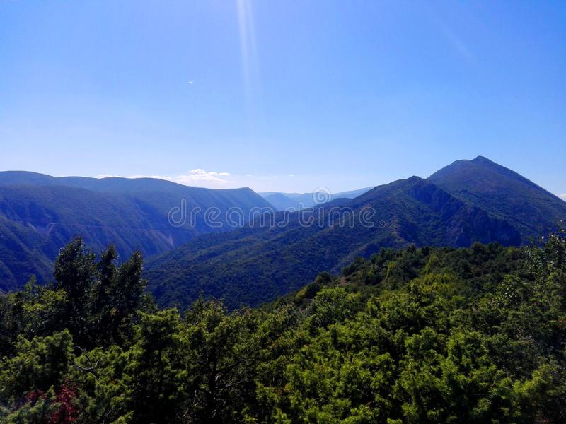 Beautiful view of a mountain royalty free stock image