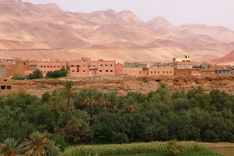 Oasis town of Tinghir in Morocco royalty free stock images