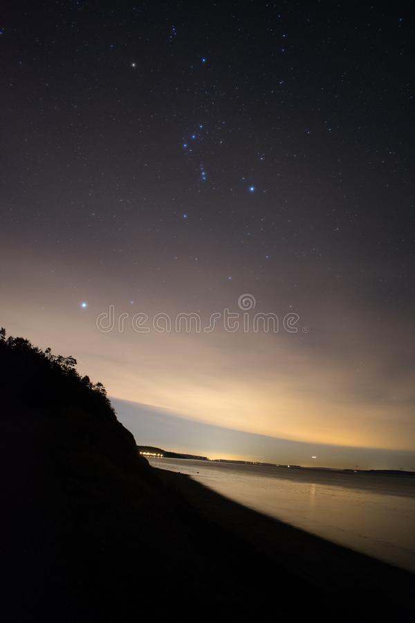 Starry Night on the Beach stock photos