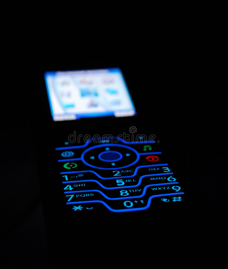 Free Beautiful View Of Cell Phone In Dark Stock Photo - 5457880