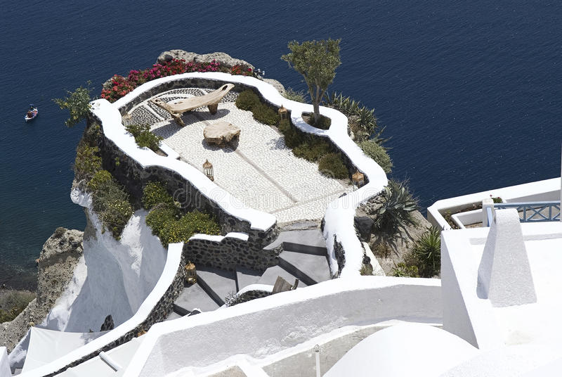 Beautiful view in Oia, Santorini royalty free stock images
