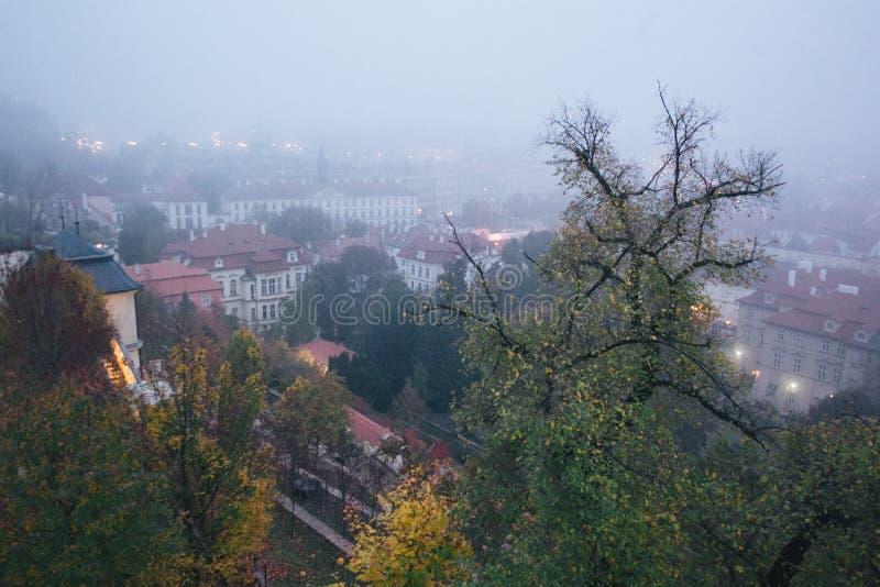 Beautiful view of old city of Prague stock photos