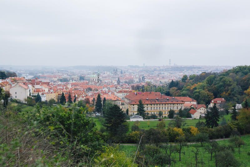 Beautiful view of old city of Prague royalty free stock photos