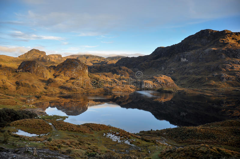 Beautiful view over El Cajas National Park, Ecuador royalty free stock images