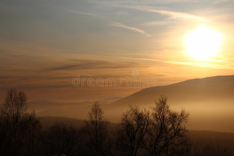 Beautiful view over vally royalty free stock photography