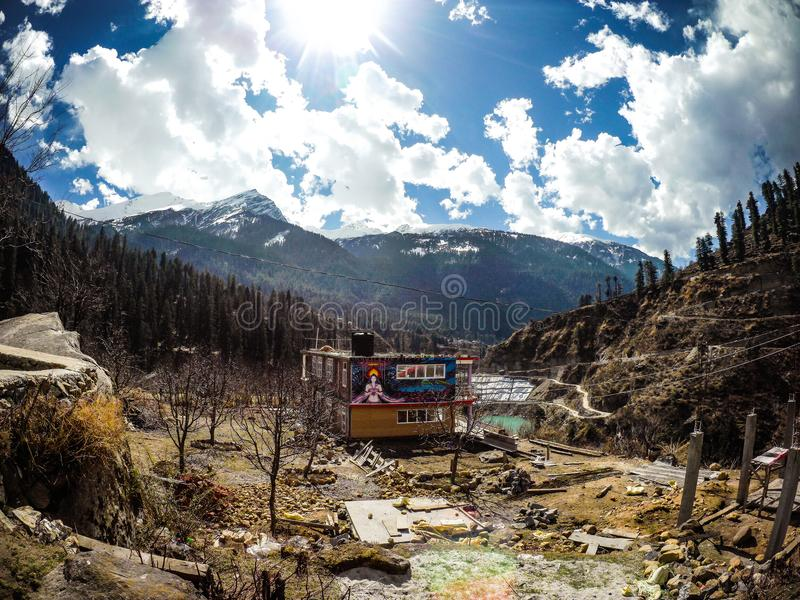 Beautiful View of Parvati Valley royalty free stock image