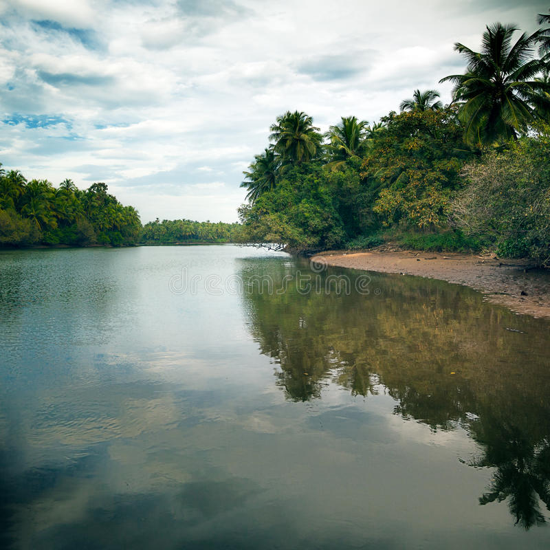 Beautiful view of peaceful lake royalty free stock photography