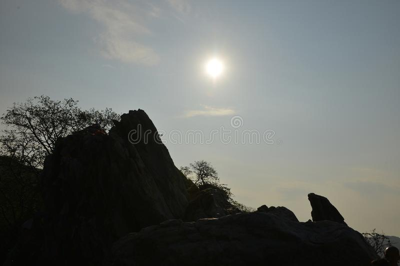 Beautiful view of the picturesque rock royalty free stock images