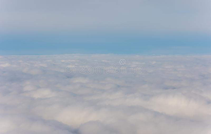 Beautiful view from plane window. Background royalty free stock images
