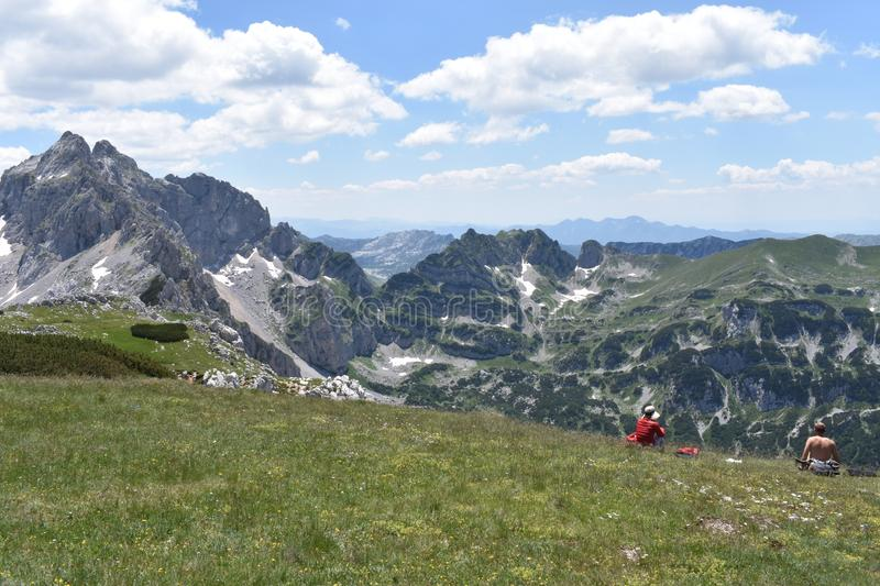 The beautiful view from the Planinica peak,the Durmitor mountain stock photo