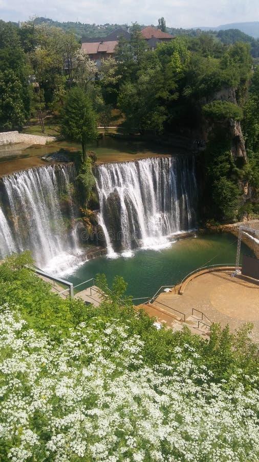 Pliva waterfall royalty free stock image