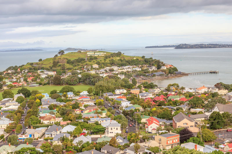 Beautiful view point of Mount Victoria reserve, Devonport, A royalty free stock photo