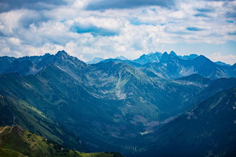 Beautiful view on Polish Tatra mountains. Zakopane, Poland stock photography