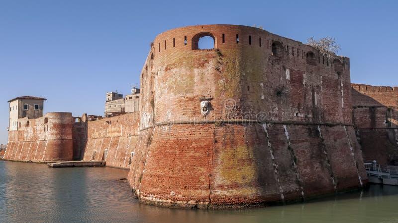 Beautiful view of the Porto Mediceo of Livorno, Tuscany, Italy. Europe royalty free stock image