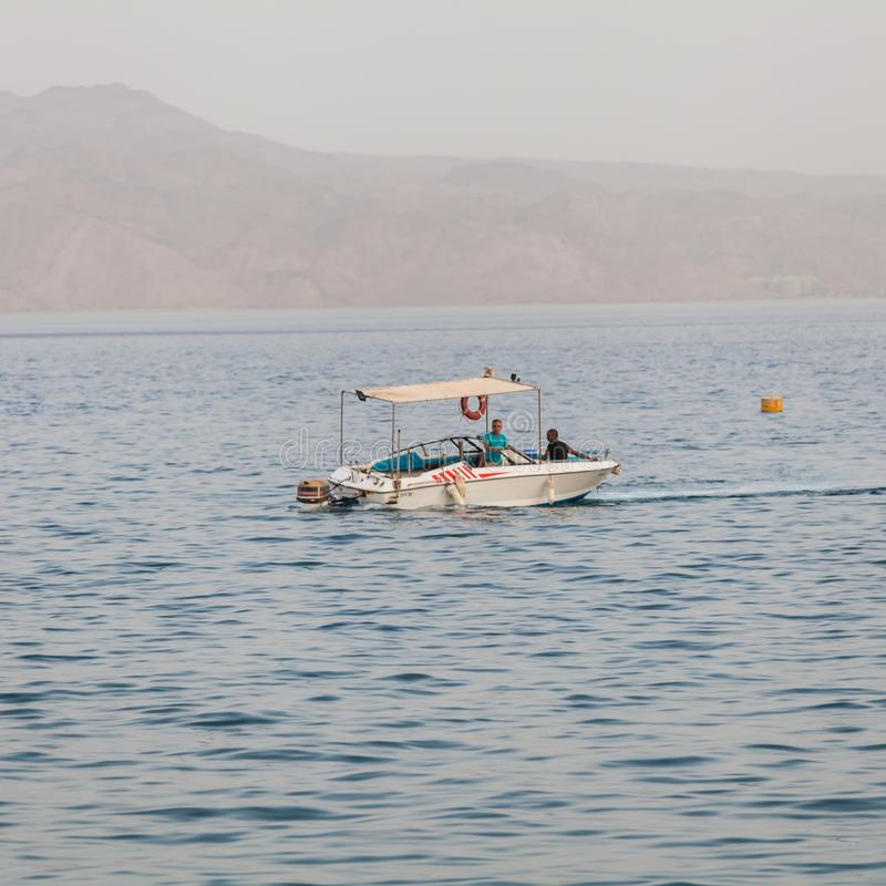 Beautiful view of the Red Sea. EILAT, ISRAEL - CIRCA MAY 2018: Beautiful view of the Red Sea in Israel circa May 2018 in Eilat stock image