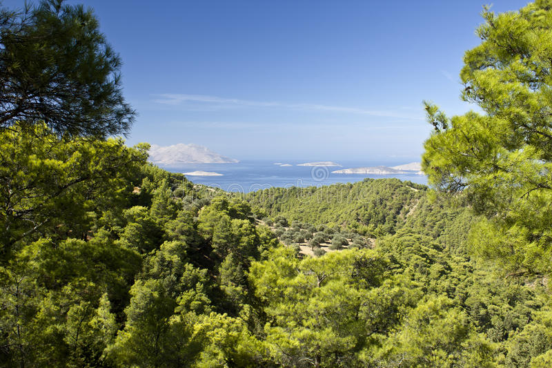 Beautiful view of the Rhodes royalty free stock images