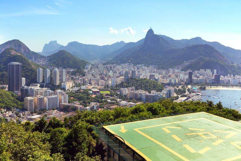 Rio de Janeiro aerial view royalty free stock photography