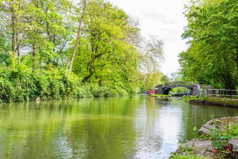 Beautiful view of the river Avon, Bath, England stock image