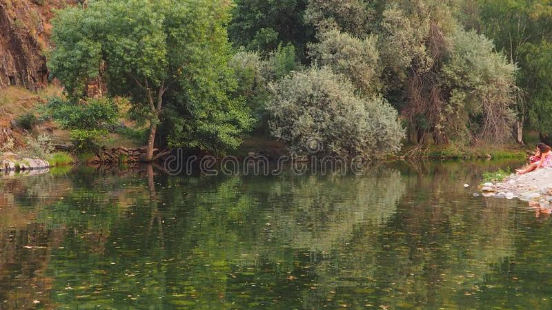 A beautiful view  of river in the Portuguese countryside stock photos