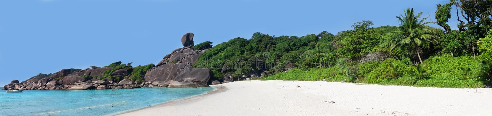 Beautiful view of the rock Sail on Similan royalty free stock photography