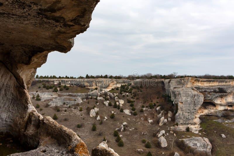View from Eski-Kermen city in Crimea stock photos