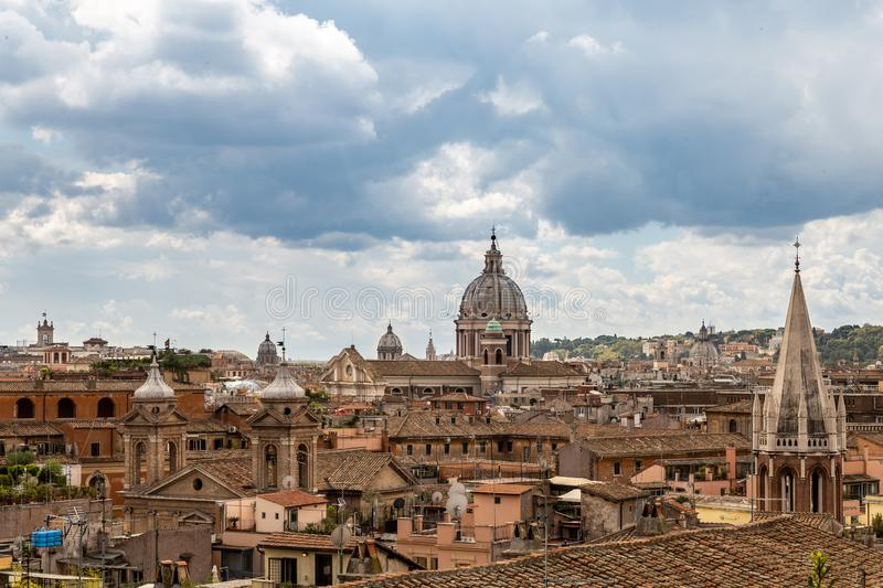 Beautiful view of the roofs of Rome royalty free stock images