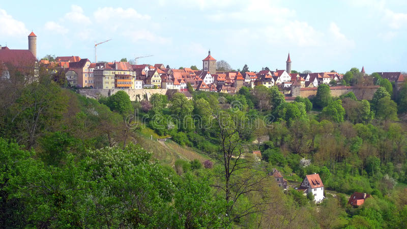 Beautiful view in Rothenburg stock images