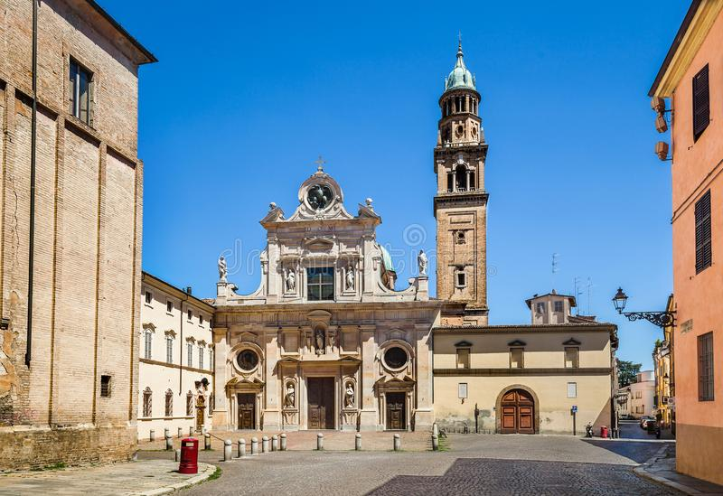 San Giovanni church in Parma, Italy. Beautiful view of San Giovanni church in Parma, Italy stock photos