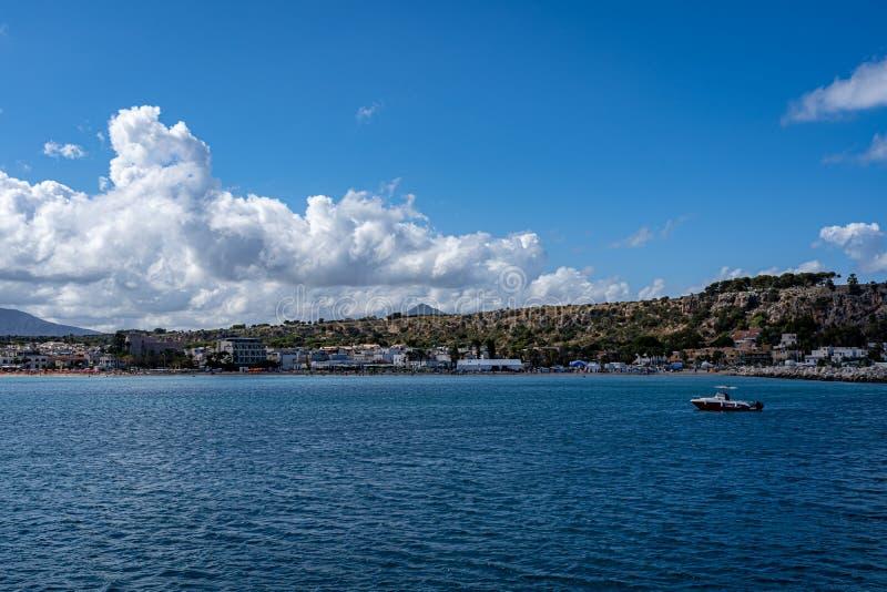Beautiful view of  San Vito Lo Capo. Beautiful view of San Vito Lo Capo Italy Sicily stock image