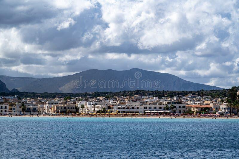 Beautiful view of  San Vito Lo Capo. Beautiful view of San Vito Lo Capo Italy Sicily royalty free stock photos